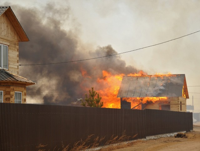 Пожар в дачном поселке