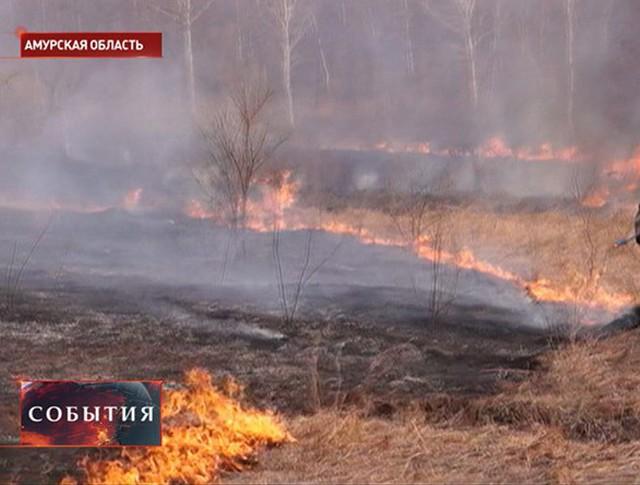 Пожар в Амурской области