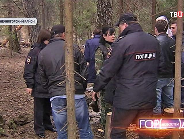 Полиция на месте преступления Тамары Якжины