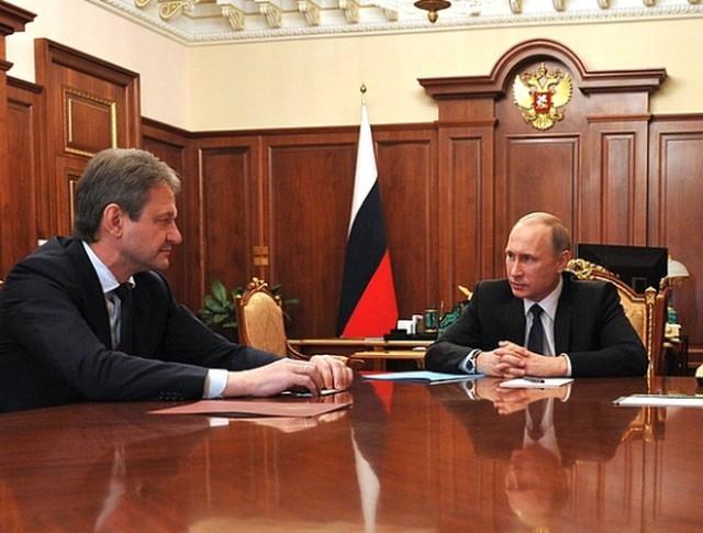 Александр Ткачев и Владимир Путин