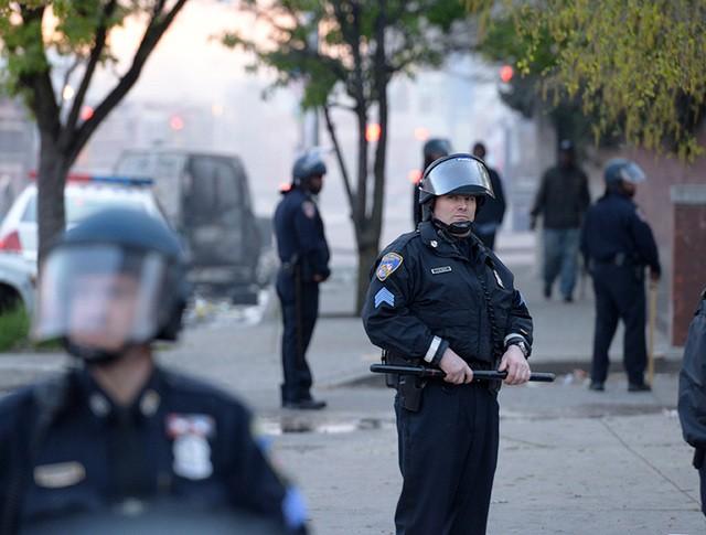 Полиция на улице Балтимора