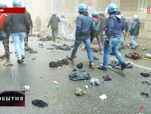 Беспорядки в Милане