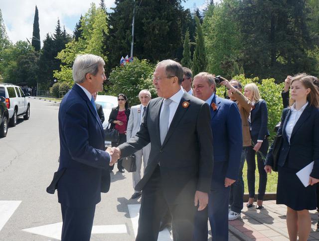 Встреча Сергей Лаврова и Джон Керри в Сочи