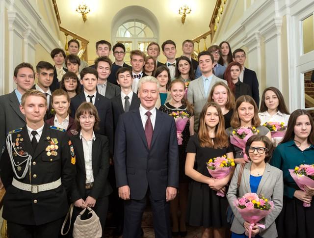 Сергей Собянин на встрече с московскими школьниками