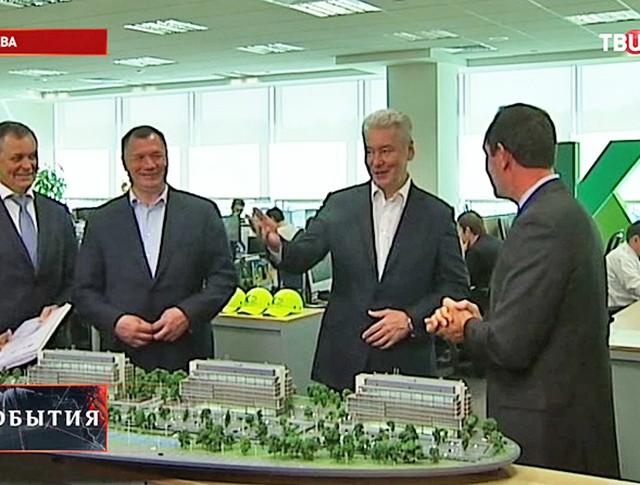 Сергей Собянин посетил строительство бизнес-парка