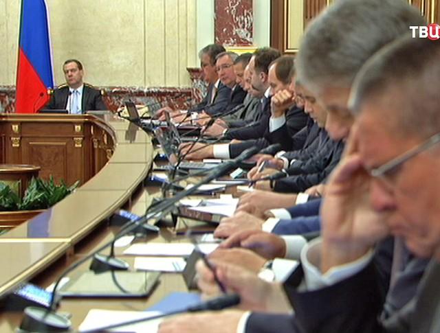 Дмитрий Медведев провёл заседание правительства РФ