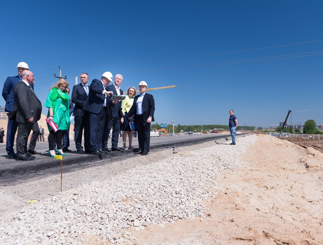 Сергей Собянин на осмотре хода реконструкции Калужского шоссе