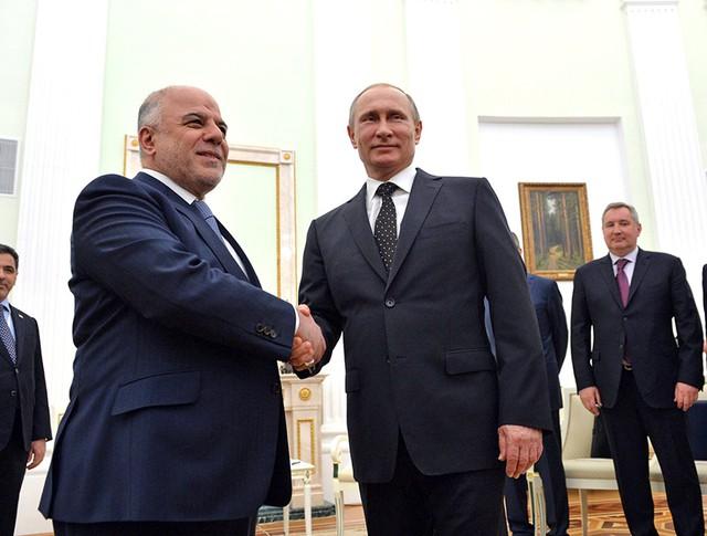 Президент России Владимир Путин и премьер-министр Ирака Хайдар Абади
