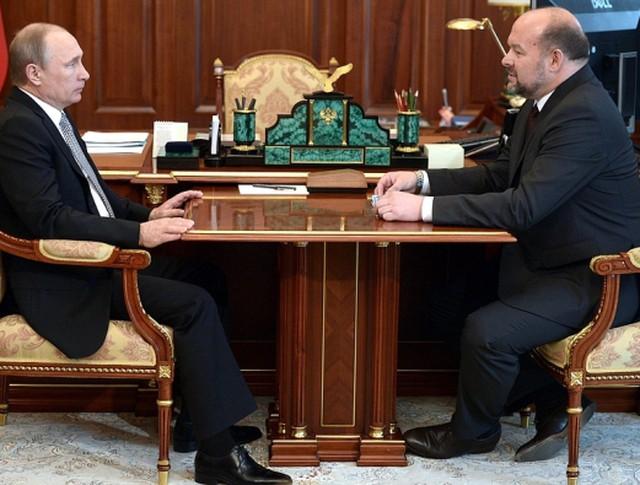 Рабочая встреча президента Владимира Путина с губернатором Архангельской области Игорем Орловым