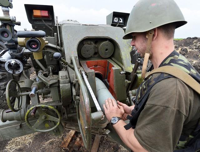 Украинская артиллерия в Донбассе