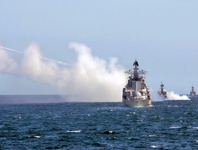 Военно-морские учения Российского флота