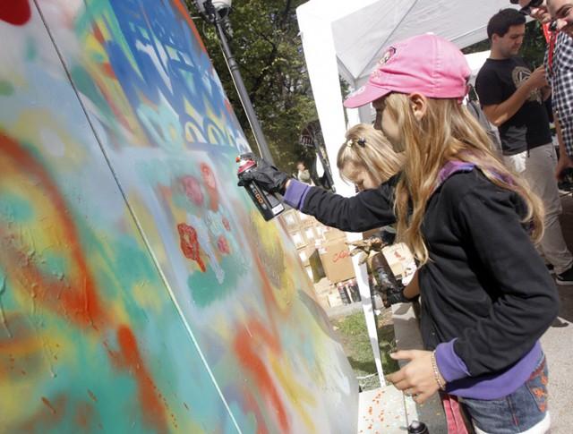 Мастер-класс по граффити