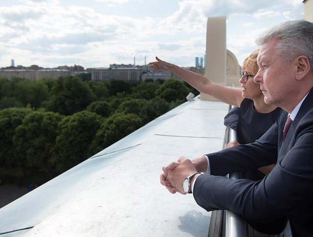 Мэр Москвы Сергей Собянин на смотровой площадке