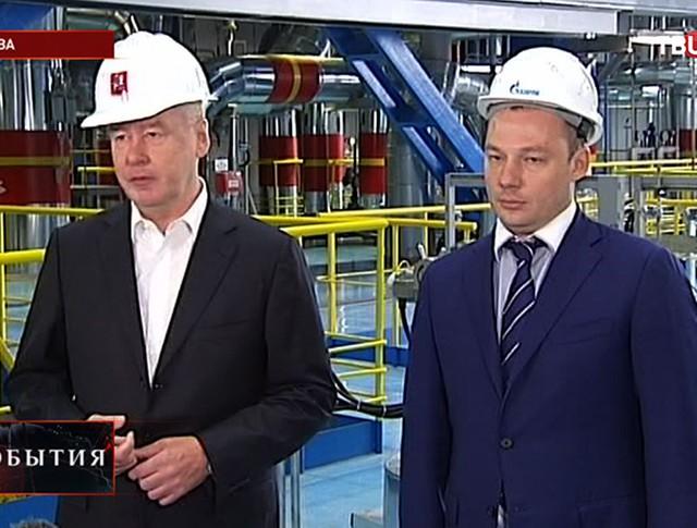 Сергей Собянин в новом энергоблоке