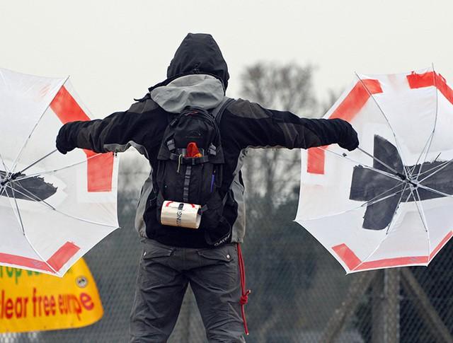 Митинг против размещения ядерных ракет США в Европе