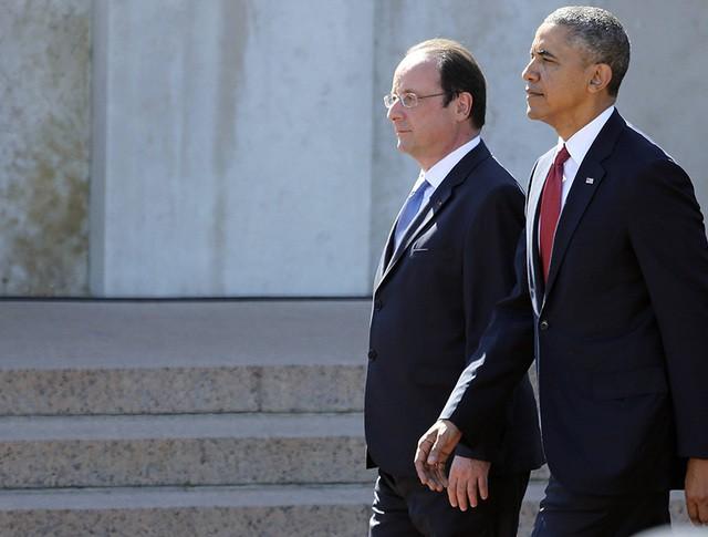Барак Обама и Франсуа Олланд