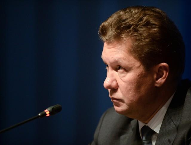 """Председатель правления ОАО """"Газпром"""" Алексей Миллер на пресс-конференции по итогам годового общего собрания акционеров компании """"Газпром"""""""