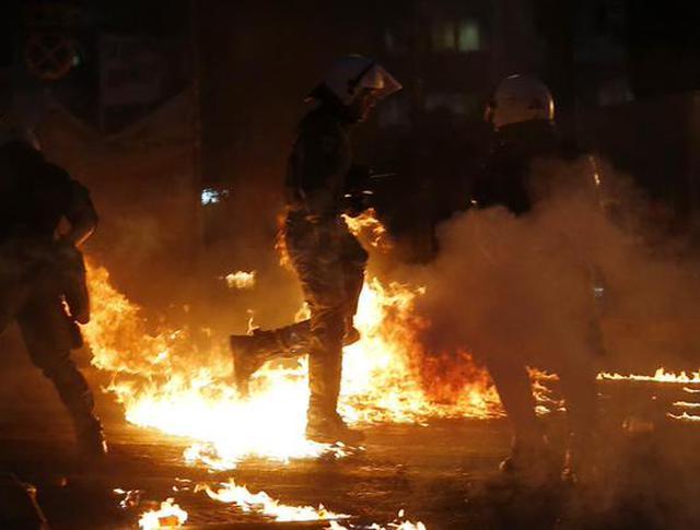 Акция протеста в Афинах