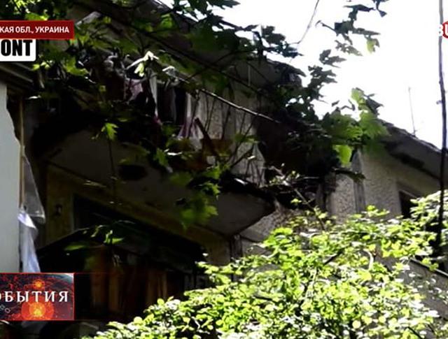 Последствия артобстрела в Донецкой области