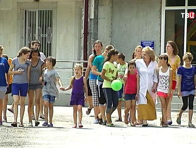 Дети в летнем лагере