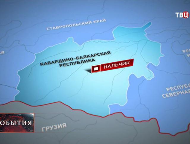 Карта Кабардино-Балкарии