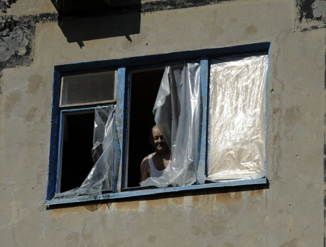 Житель поселка Октябрьский в Куйбышевском районе города Донецка