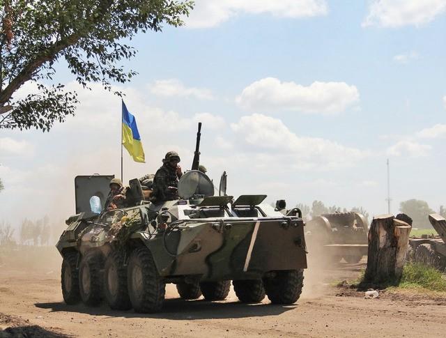 Украинская военная техника в Донбассе