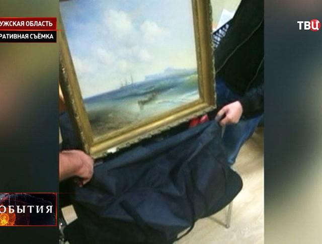 """Найденная картина Айвазовского """"Море у острова Капри"""""""