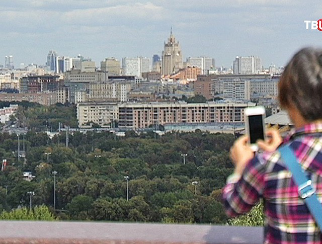 Вид на Москвы со смотровой площадки Воробьевых гор