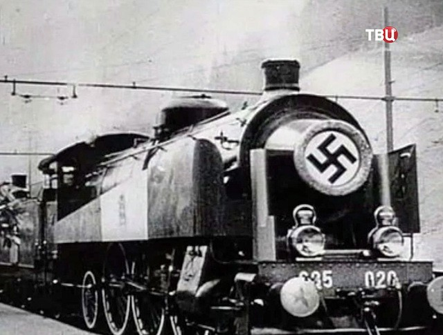 Нацистский бронированный поезд
