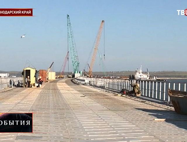 Строительство моста над Керченским проливом