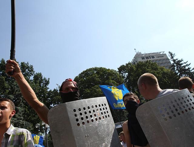 Беспорядки у здания Верховной Рады Украины