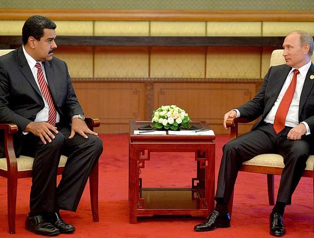 Глава Российского государства и Президент Боливарианской Республики Венесуэла Николас Мадуро