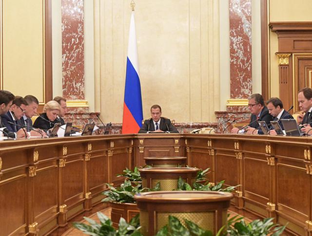 Дмитрий Медведев заседание Правительства РФ
