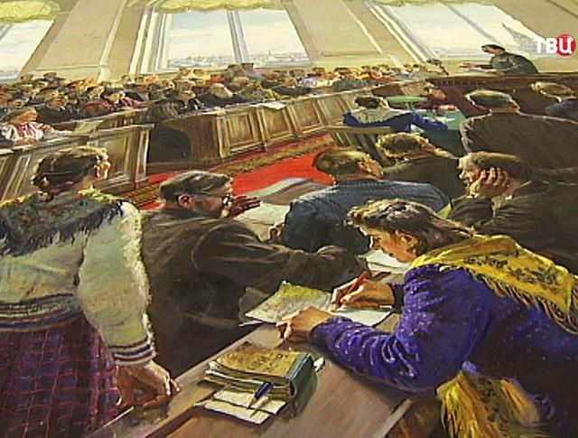 Реставрация картины художника Герасимова