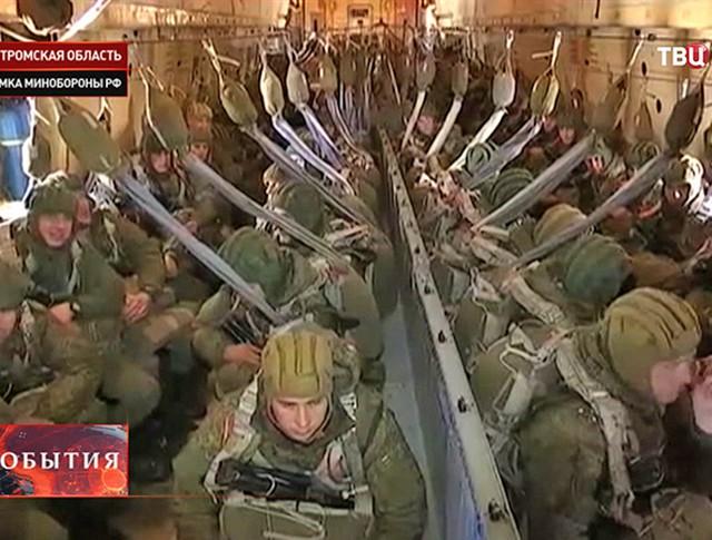 Десантники в ходе проверки ЦВО