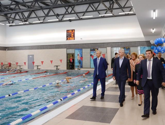 Мэр Москвы Сергей Собянин на открытии нового спортивно-оздоровительного центра