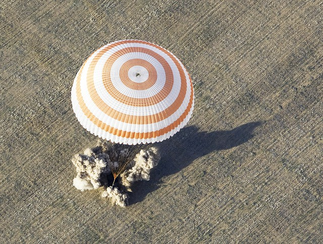 Приземление космической капсулы