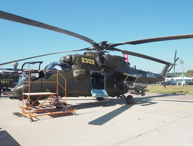 Вертолет Ми-35М на авиасалоне МАКС-2015