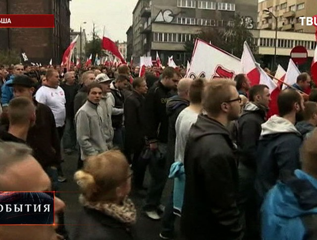 Митинг против беженцев