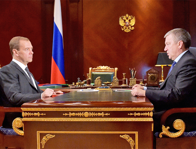 Дмитрий Медведев и глава Республики Карелия Александр Худилайнен