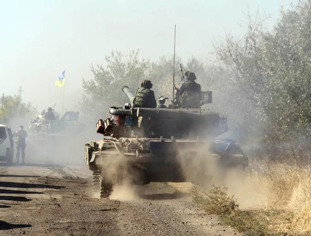 Танковая колонна украинской армии