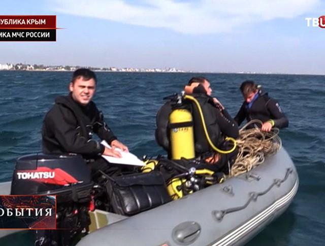 Спасатели у берегов Феодосии