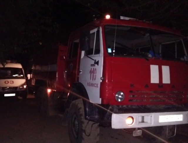 На месте пожара в Краснодарском крае