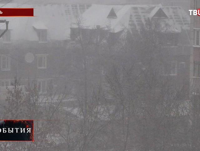 Сильный снегопад в Перми