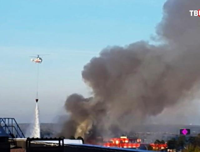 Пожар на строительном рынке в Одинцовском районе