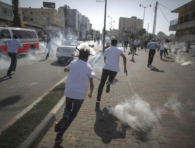 Во время разгона демонстрантов