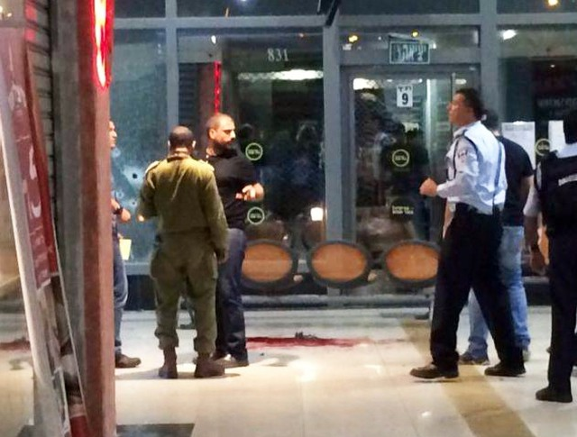 Полиция Израиля на месте теракта