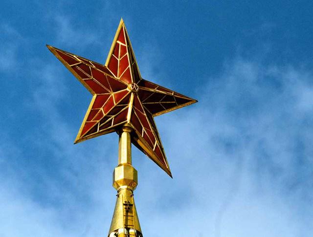 Рубиновая звезда на Спасской башне Московского Кремля