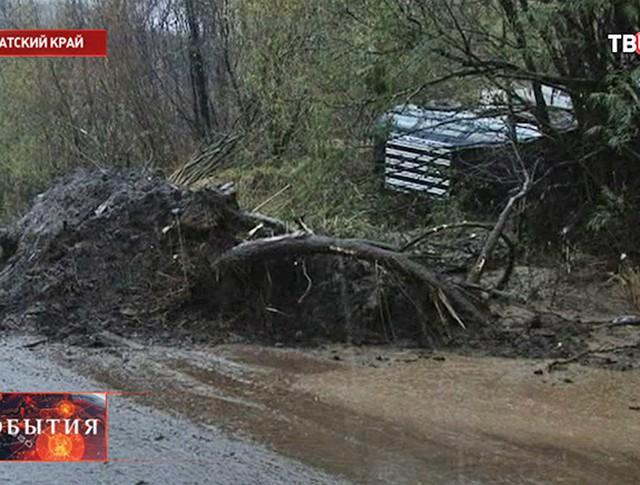 Последствия дождей на Камчатке